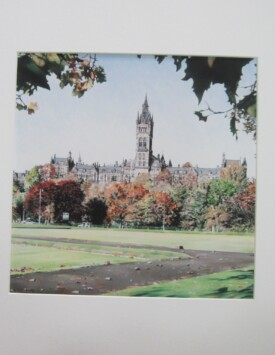 'Glasgow University above the Treetops'
