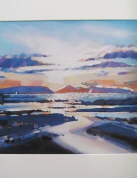 'Coastal Sunset, Arisaig'