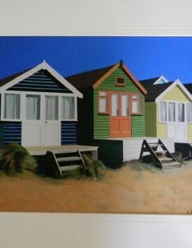 'Beach Huts in Summer'